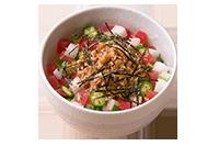 ねばねば食材のカラフル納豆丼