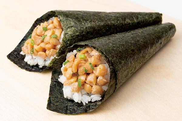 大きなひきわり手巻き寿司