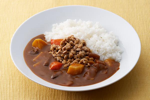 ちょっぴりアレンジ 納豆カレー
